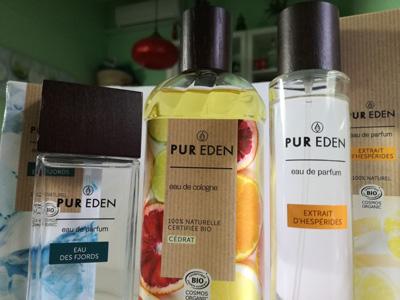 Nueva colección perfumes bio Pur Eden