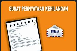 Contoh Surat Pernyataan Kehilangan KTP/STNK/SIM