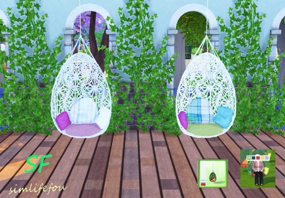 My Sims 4 Blog Ts3 Bohemian Garden Hanging Chair By