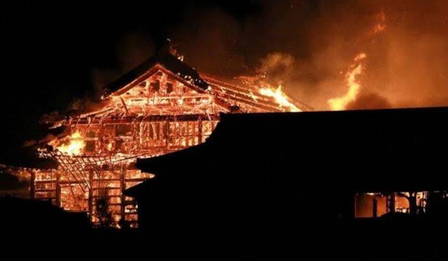 Kastil Shuri, Warisan Dunia (UNESCO) Terbakar