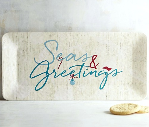 Seas and Greetings Christmas Platter
