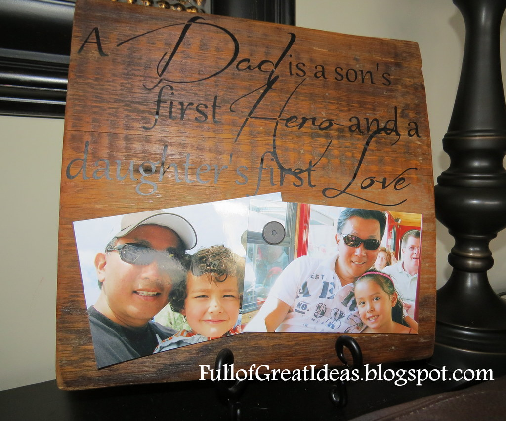 full of great ideas a dad is diy wood quote magnetic photo holder - Homemade Christmas Gifts For Dad