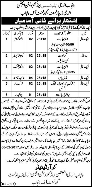 Punjab Energy Department Jobs Before 06.02.2017