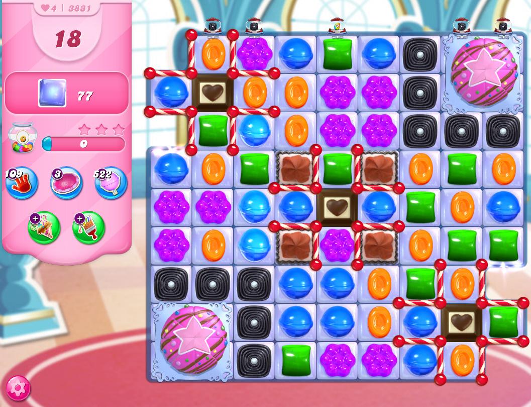 Candy Crush Saga level 3831