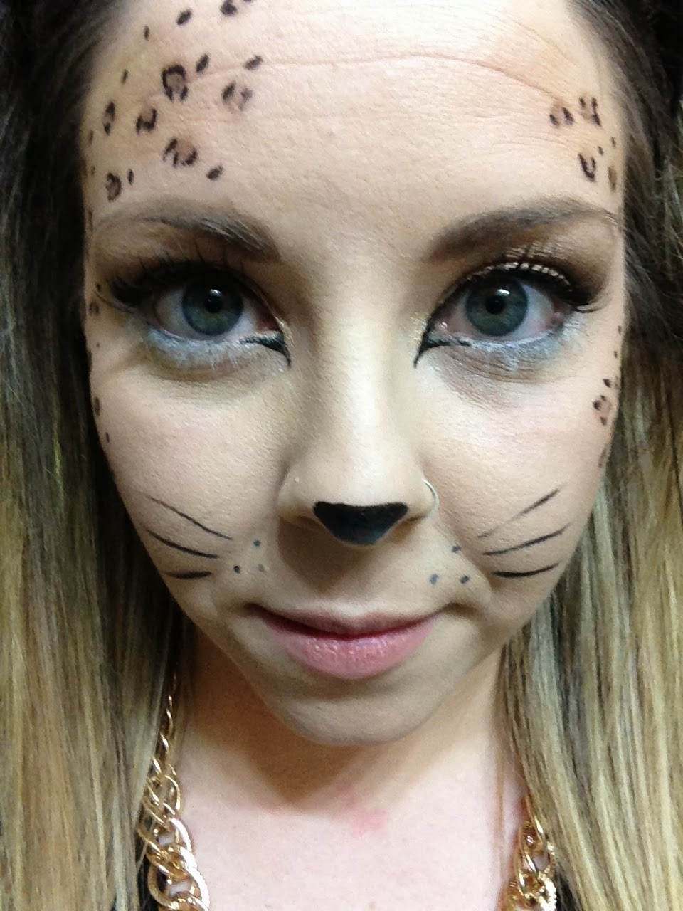 Makeup For Blue Eyes To Define The Look And Shade Of The Eyes: Ashley Sue Makeup.: Halloween Cheetah Makeup