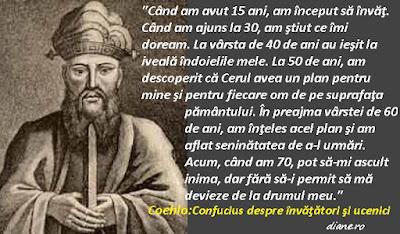 Coehlo - Confucius despre învăţători şi ucenici