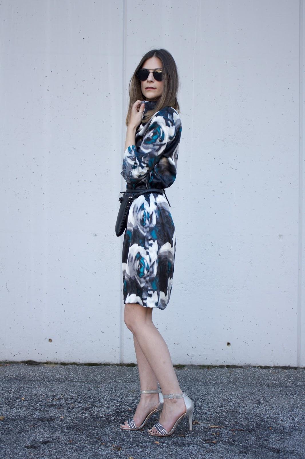 silk floral Express dress