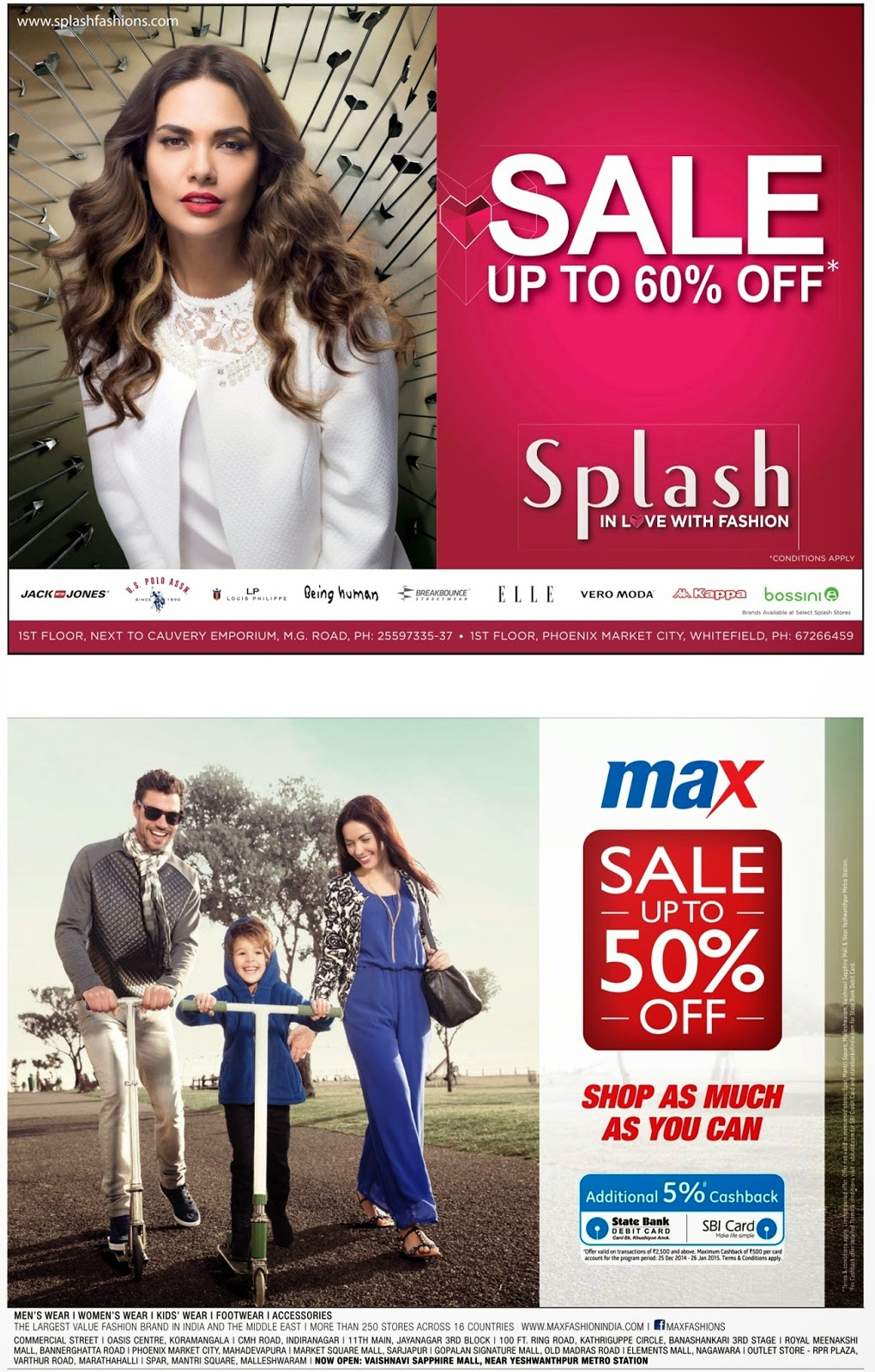 64b34c0ab25f All India Sales: Upto 50%* Sale of Max and Splash for limited period.