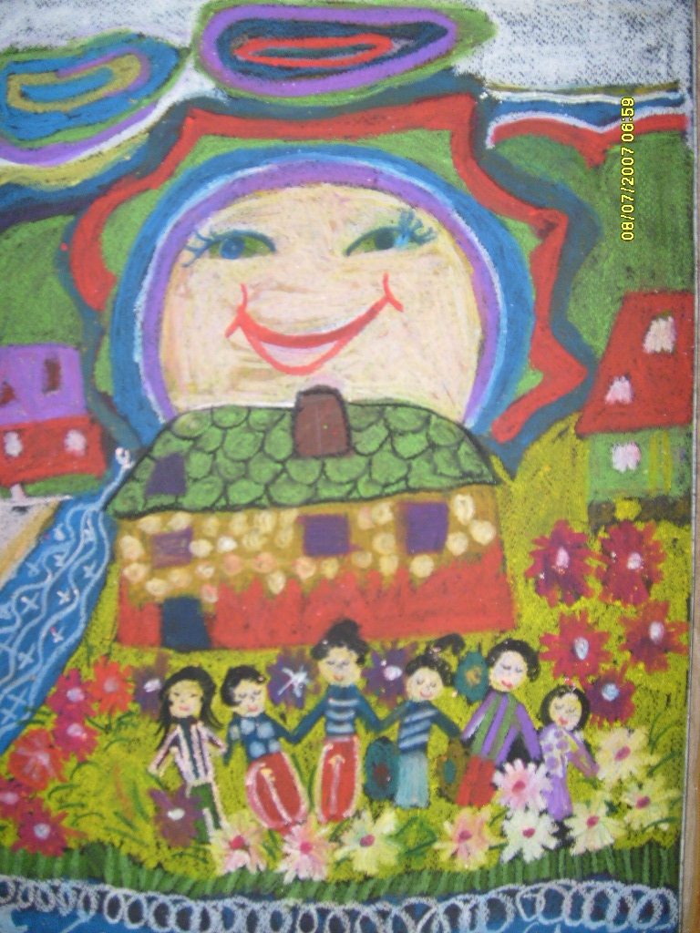 Minik Ellerin Eserleri Dokunur Yureklere Pastel Boya Calismalari