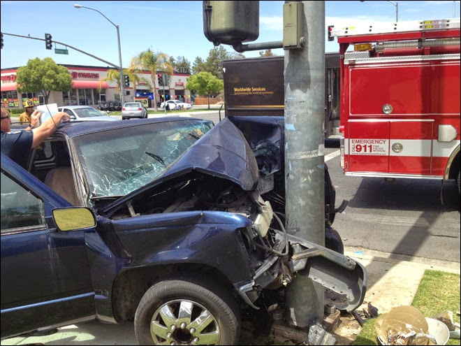 kern county collision crash suv drunk driver bakersfield hit and run ming avenue