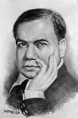 Retrato de Rubén Darío (blanco y negro)