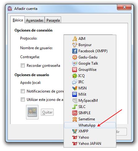 Cómo usar Whatsapp desde tu PC con Pidgin y el plugin