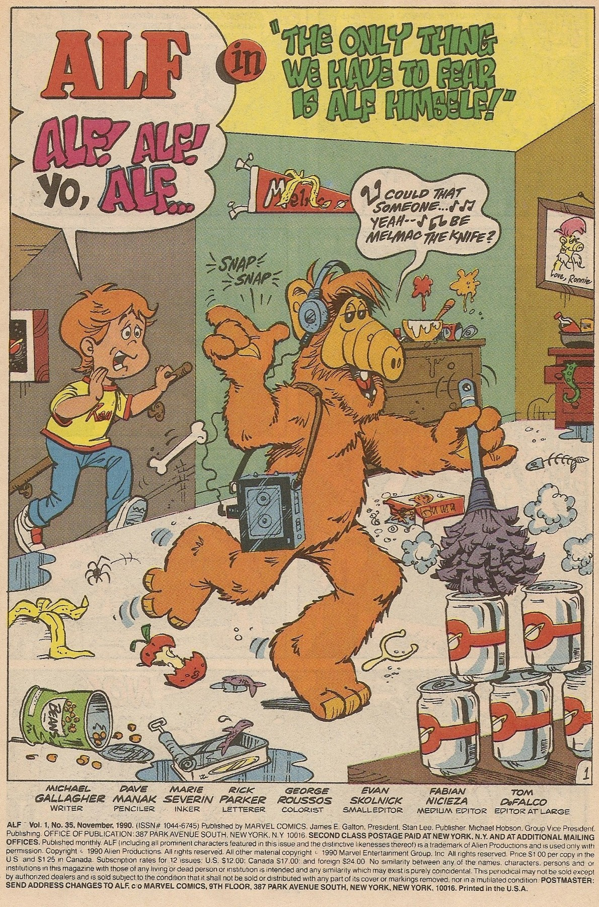 Read online ALF comic -  Issue #35 - 3