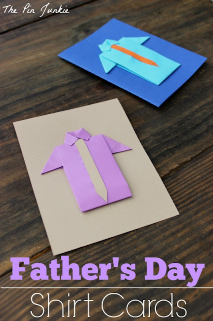 Father's Day Origami Shirt Cards