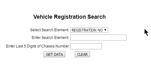 ts rto registration number search