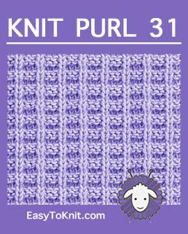 #Knit Ridge Rib stitch, Easy Knit Purl Pattern #easytoknit