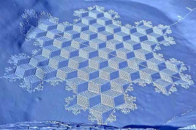 Alkotások a hóban
