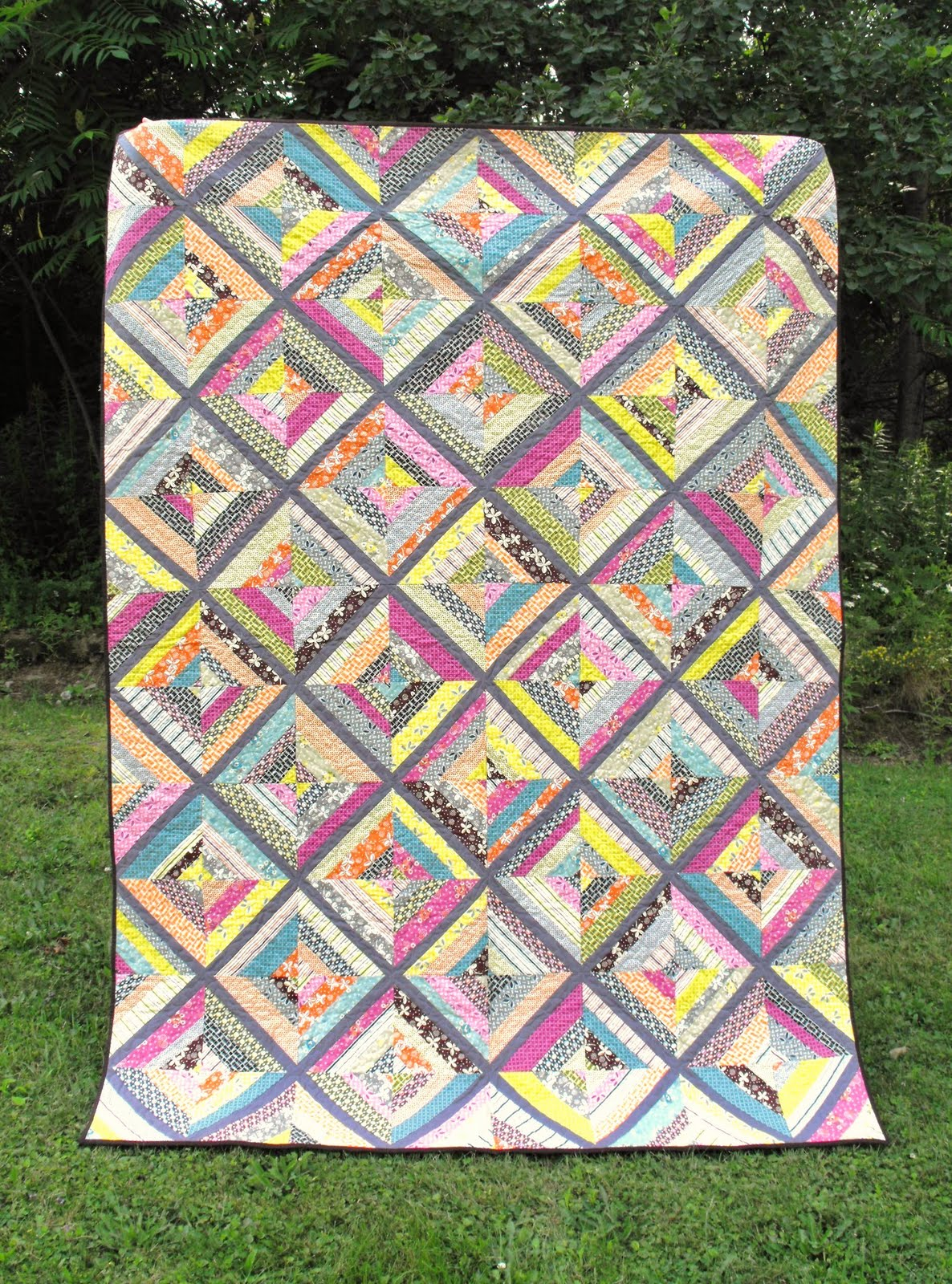 Fussy Cut Hope Valley String Quilt