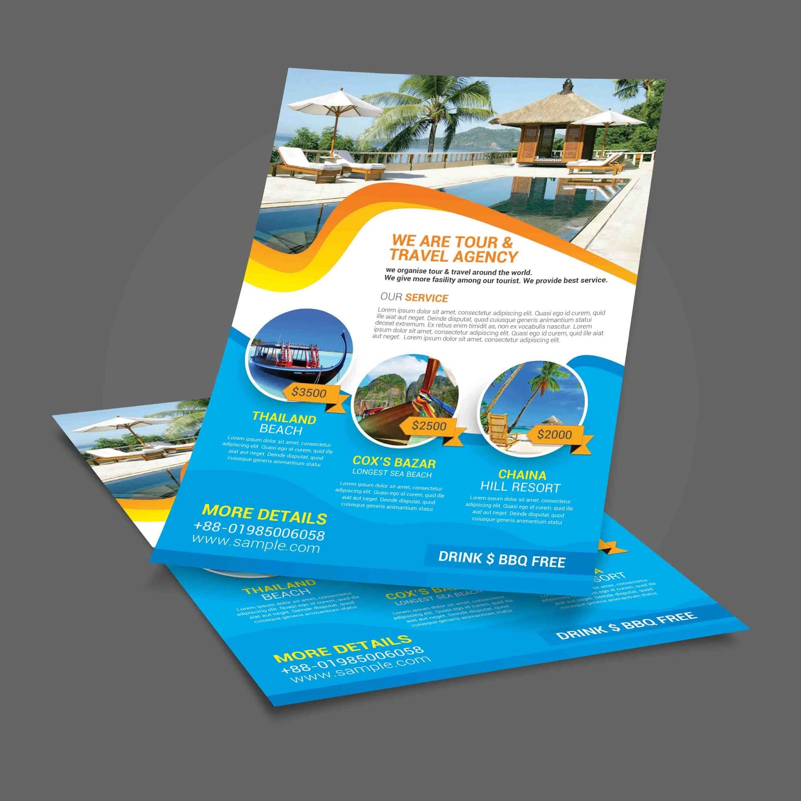 Travel flyer template template market holiday travel tour maxwellsz
