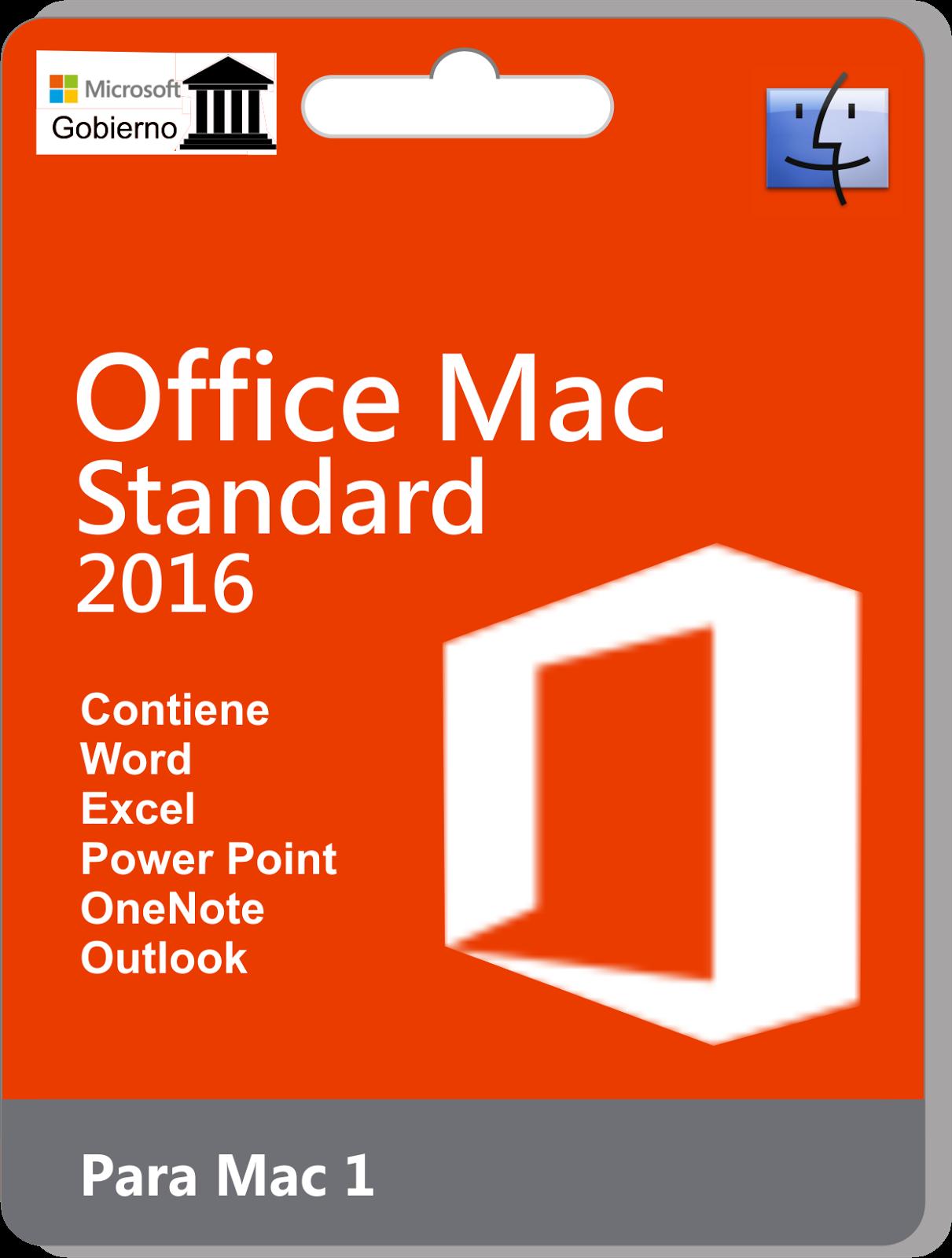 Office Standard 2016 mac