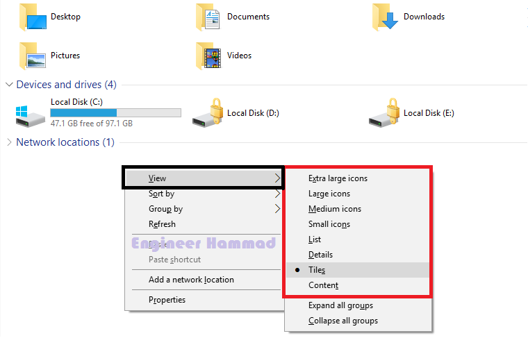 How to change icon Size in Windows 10 | Change Desktop icon Size