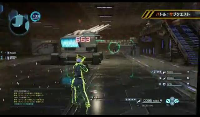 Second screenshot from Sword Art Online: Fatal Bullet's first trailer