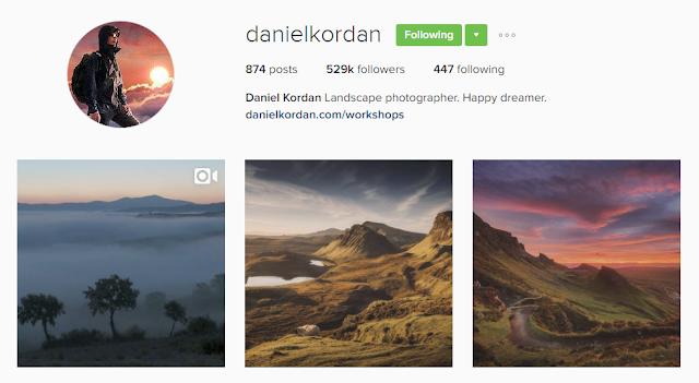 Follow @danielkordan on Instagram