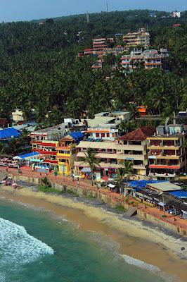 lighthouse, view, beach, Kovalam, colorful, Kerala