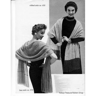 Lace Stole Knitting Pattern No 673