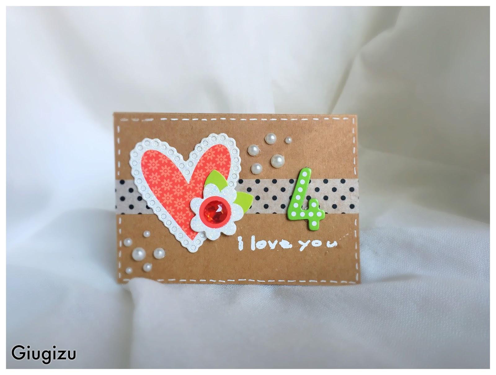 Connu Giugizu's corner: Handmade wedding anniversary card - Biglietto  KE12