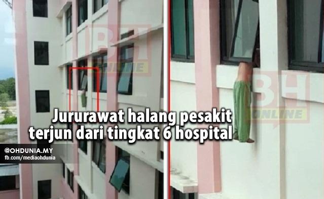 Jururawat Halang Pesakit Terjun Dari Tingkat 6 Hospital