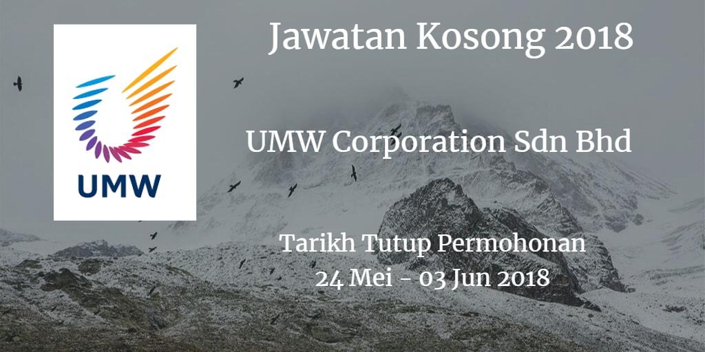 Jawatan Kosong UMW Corporation Sdn Bhd 24 Mei- 03 Jun 2018
