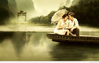 true love wallpapers sitting in a boat .jpg