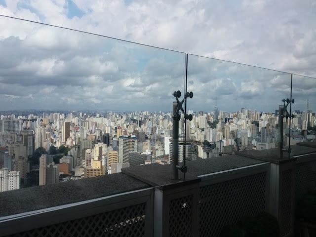São Paulo vista do alto (e almoço no Terraço Itália)!