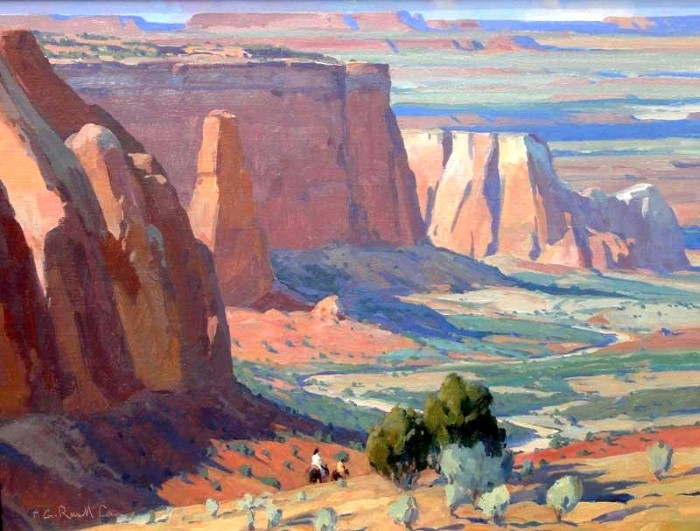 Горные пейзажи. G. Russell Case 5