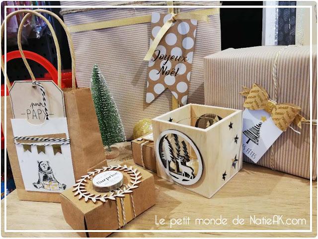 idée pour emballage cadeaux de Noël