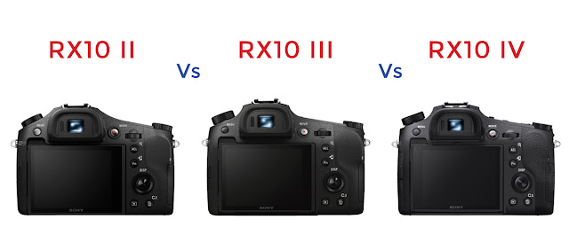 Sony RX10 II vs RX10 III vs RX10 IV Rear Screen Comparison