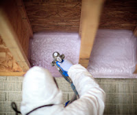 Insulating basement box sill with spray foam