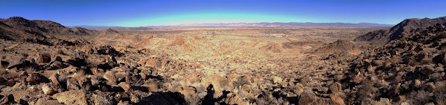 Northern panorama of Mojave Desert from Fortynine Palms Oasis Trail, Joshua Tree National Park