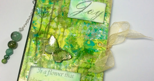 A Notebook of Joy and Gelli Prints for Bee Crafty