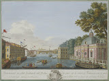 View of the Fontanka River from the Grotto (Line engraving and watercolour, 1753 - Cityscape) by Grigory Anikiyevich Kachalov