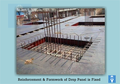 Reinforcement and Form work of Drop Panel is Fixed