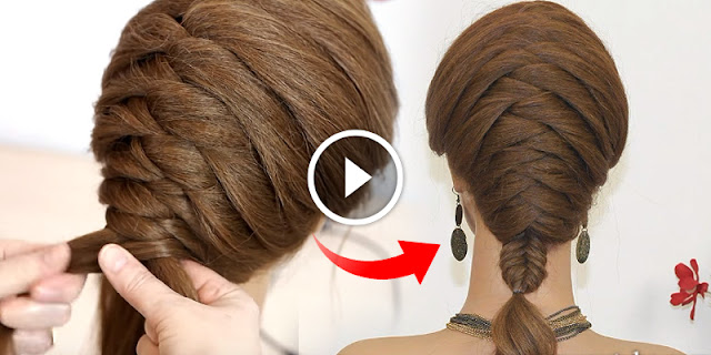 How To Create Simple Braided Hairstyle - See Tutorial