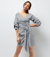 http://www.newlook.com/row/womens/clothing/dresses/day-dresses/black-gingham-ruched-sleeve-wrap-dress/p/536160909?comp=Browse