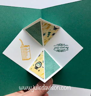 Control Freaks Blog Tour: Masculine Fun Fold Cards with Stampin' Up! Classic Garage ~ Geared Up Garage ~ www.juliedavison.com