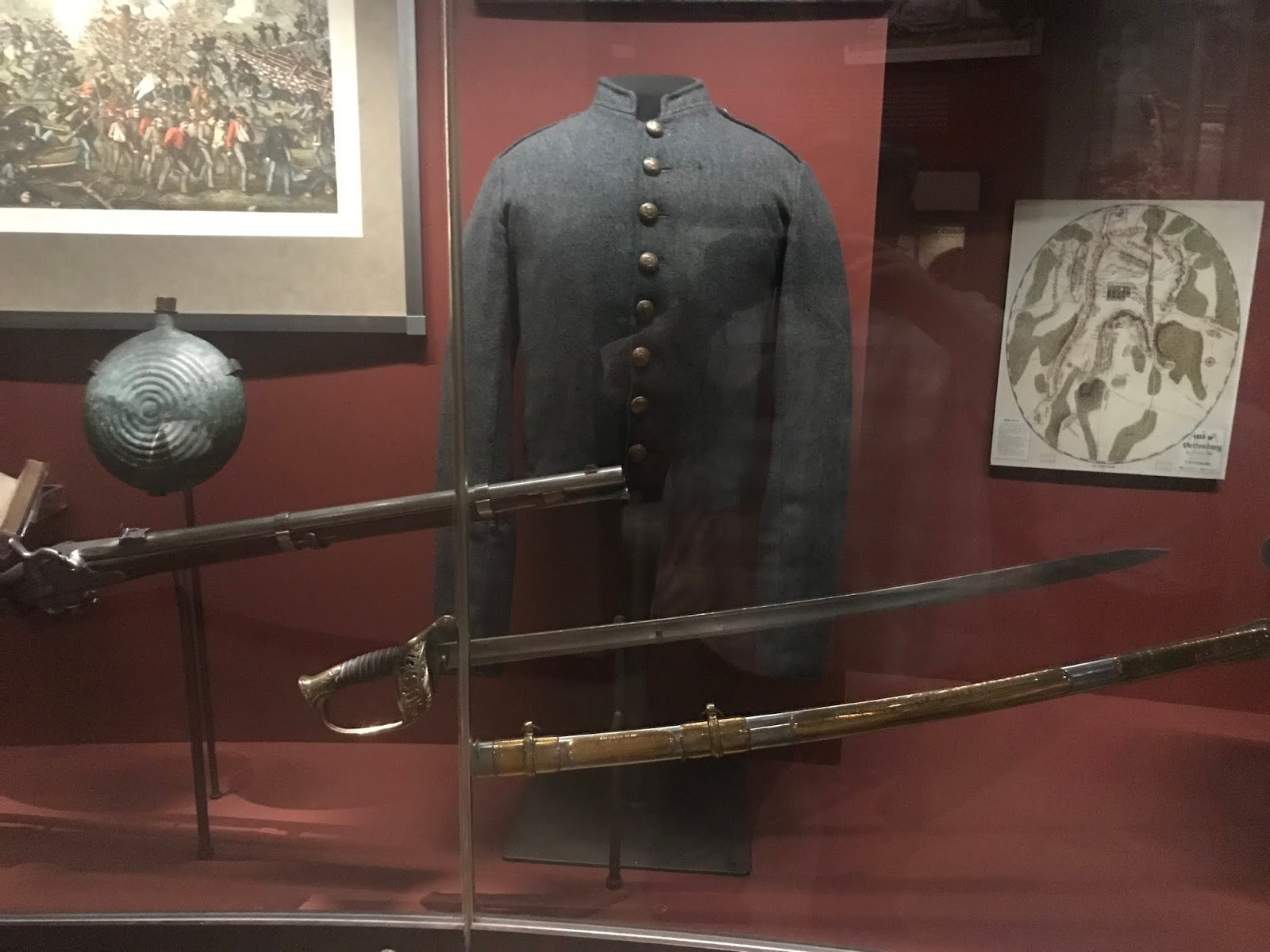 The Civil War Picket: At the Smithsonian: Bullet-riddled tree stump