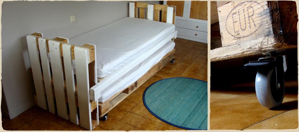 la cama nido para ni os con palets de mar a. Black Bedroom Furniture Sets. Home Design Ideas