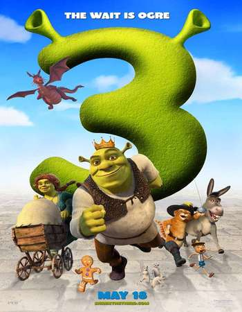 Poster Of Shrek the Third 2007 Hindi Dual Audio 400MB BluRay 720p ESubs HEVC Free Download Watch Online downloadhub.in