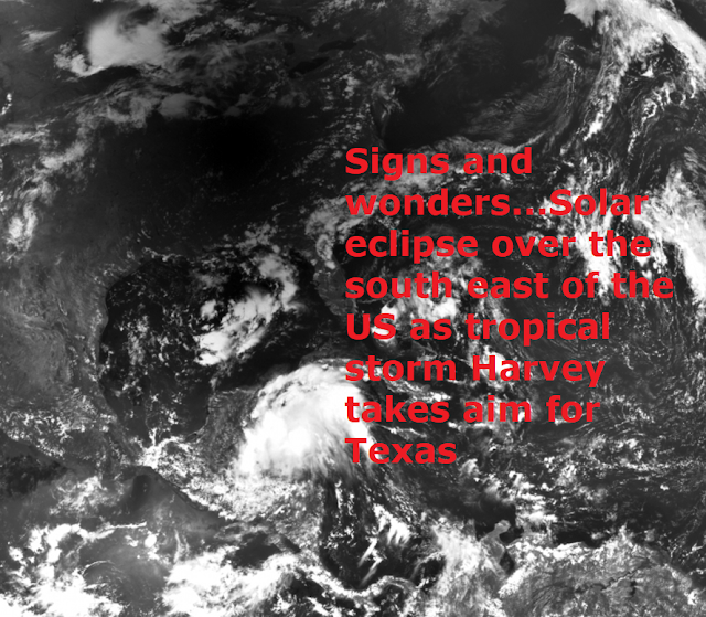 Signs and wonders! Katrina, Gustav, Isaac and Harvey all made landfall on the 29th of August  Naamloos