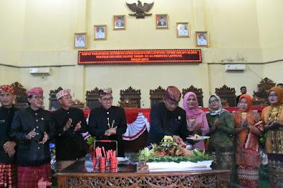 Pemkab dan DPRD Lampung Timur Gelar Rapat Paripurna HUT Provinsi Lampung ke-54